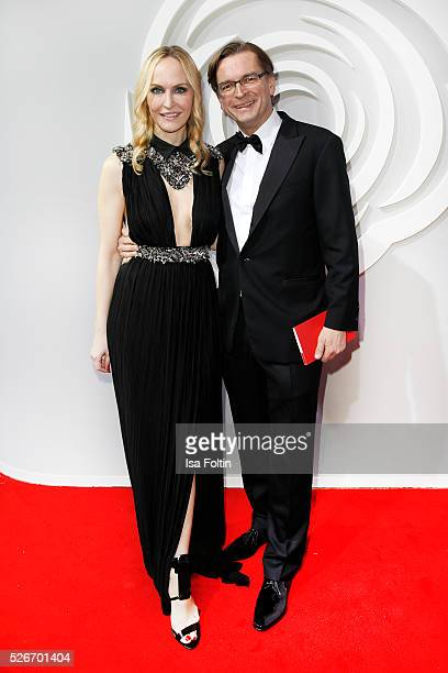 Anne MeyerMinnemann and Claus Strunz attend the Rosenball 2016 on April 30 2016 in Berlin Germany