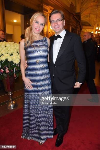 Anne MeyerMinnemann and Claus Strunz during the Semper Opera Ball 2017 at Semperoper on February 3 2017 in Dresden Germany