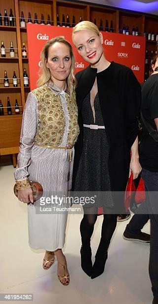 Anne MeyerMinnemann and Franziska Knuppe attend the GALA Fashion Brunch at Ellington Hotel on January 22 2015 in Berlin Germany