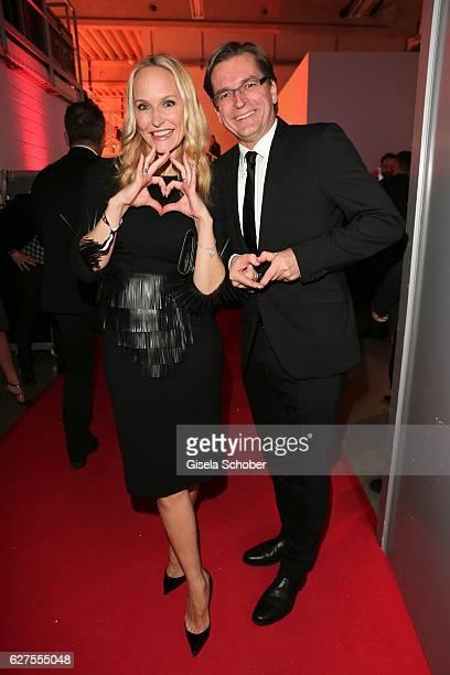 Anne MeyerMinnemann and her husband Claus Strunz are seen during the Ein Herz Fuer Kinder reception at Adlershof Studio on December 3 2016 in Berlin...