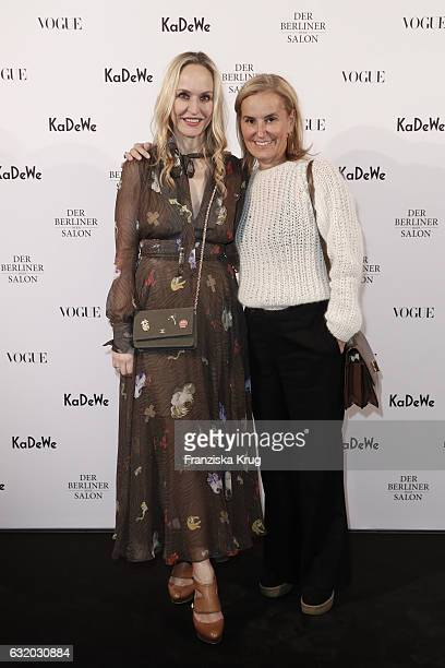Anne MeyerMinnemann and Petra Fladenhofer attend the celebration of 'Der Berliner Mode Salon' by KaDeWe Vogue at KaDeWe on January 18 2017 in Berlin...