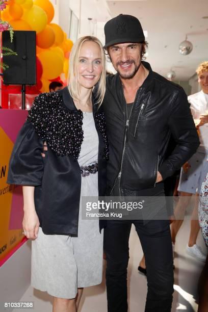 Anne MeyerMinnemann and Thomas Hayo attend the Gala Fashion Brunch during the MercedesBenz Fashion Week Berlin Spring/Summer 2018 at Ellington Hotel...