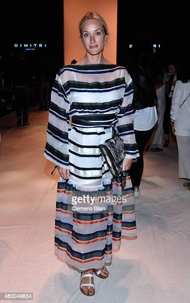 Anne MeyerMinnemann attends the Dimitri show during the MercedesBenz Fashion Week Berlin Spring/Summer 2016 at Brandenburg Gate on July 9 2015 in...