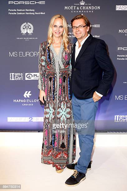 Anne MeyerMinnemann chief editor Gala Germany and her husband Claus Strunz attends the Fashion2Night event at EUROPA 2 on August 23 2016 in Hamburg...