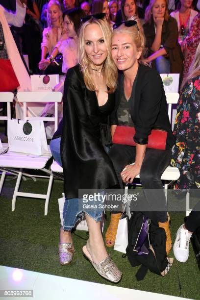 Anne MeyerMinnemann editor in chief of 'Gala' and Hili Ingenhoven during the Marc Cain Fashion Show Spring/Summer 2018 at ewerk on July 4 2017 in...