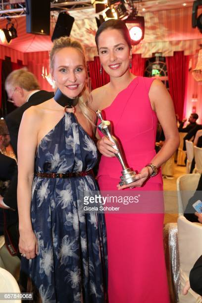 Anne MeyerMinnemann EditorInChief of GALA and winner Ana Ivanovic during the Gala Spa Awards at Brenners ParkHotel Spa on March 25 2017 in BadenBaden...