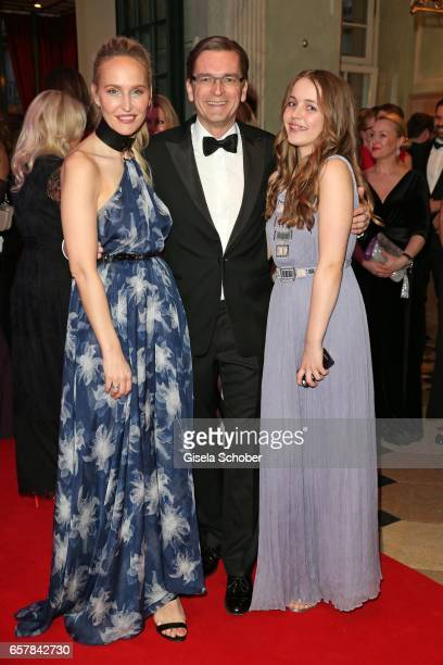 Anne MeyerMinnemann EditorInChief of GALA her husband Klaus Strunz and their daughter during the Gala Spa Awards at Brenners ParkHotel Spa on March...