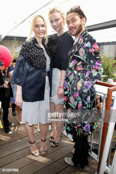 Anne MeyerMinnemann Franziska Knuppe and Riccardo Simonetti attend the Gala Fashion Brunch during the MercedesBenz Fashion Week Berlin Spring/Summer...