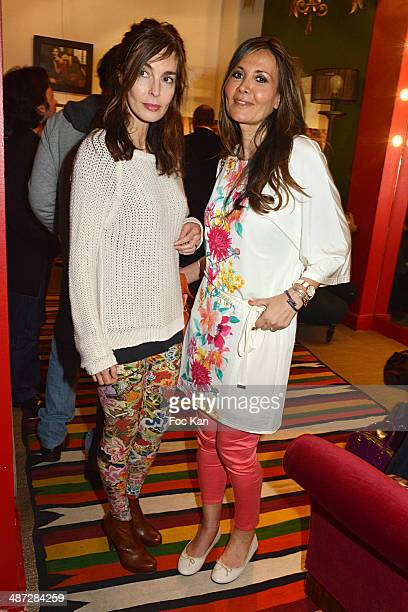 Anne Parillaud and Marie Olga Charriol attend 'Charriol' Ephemeral Boutique opening hosted by Nathalie Garcon at Galerie Vivienne on April 28 2014 in...