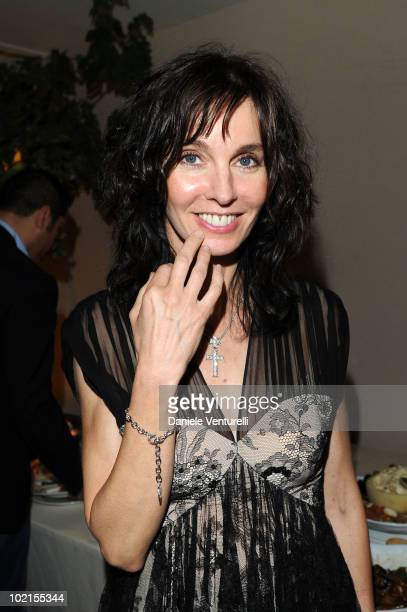 Anne Parillaud attends the Dinner For Maria Grazia Cucinotta during the Taormina Film Fest 2010 on June 16 2010 in Taormina Italy