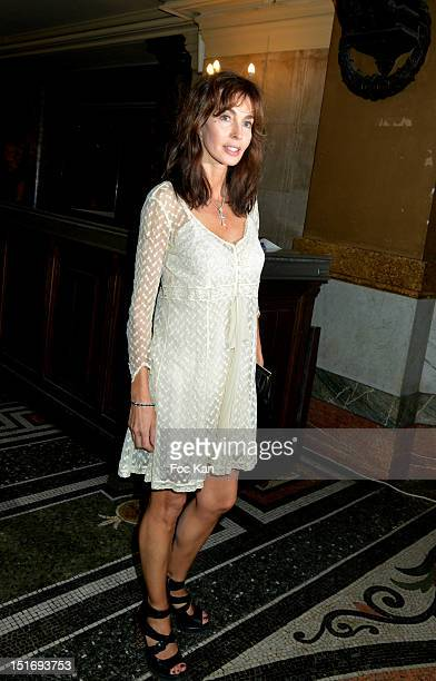 Anne Parillaud attends the 'Symphonia' George Michael Concert in Benefit of Sidaction at Opera Garnier on September 9 2012 Paris France