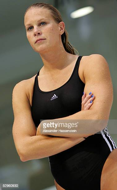 Anne Poleska of germany poses during the German Swimming Championships on May 21 2005 in Berlin Germany