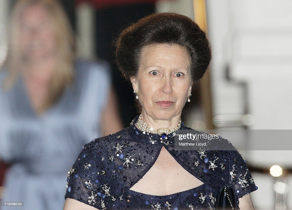 Anne, Princess Royal attends a gala pre-wedding dinner held at the Mandarin Oriental Hyde Park on April 28, 2011 in London, England.