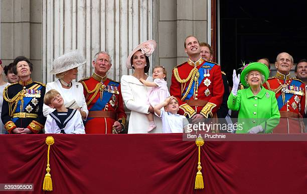 Anne Princess Royal Camilla Duchess of Cornwall Charles Prince of Wales Catherine Duchess of Cambridge Princess Charlotte of Cambridge Prince George...