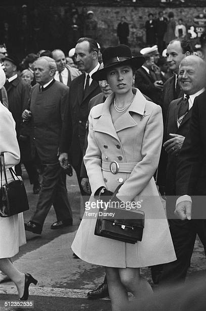 Anne Princess Royal in Austria during a state visit with Queen Elizabeth II and Prince Philip Duke of Edinburgh May 1969