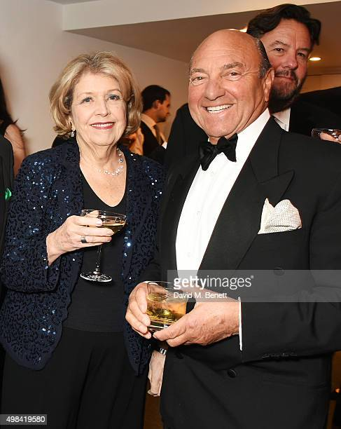 Anne Reid and Arnold Crook attend a champagne reception ahead of The London Evening Standard Theatre Awards in partnership with The Ivy at The Old...