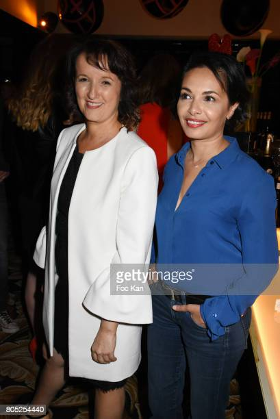 Anne Roumanoff and Saida Jawad attend the 'Red Defile' Auction Fashion Show Hosted by Ajila Association Association Against Women Heart Disease at...