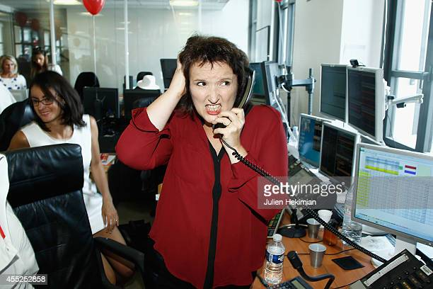 Anne Roumanoff attends Aurel BCG Charity Benefit Day 2014 on September 11 2014 in Paris France