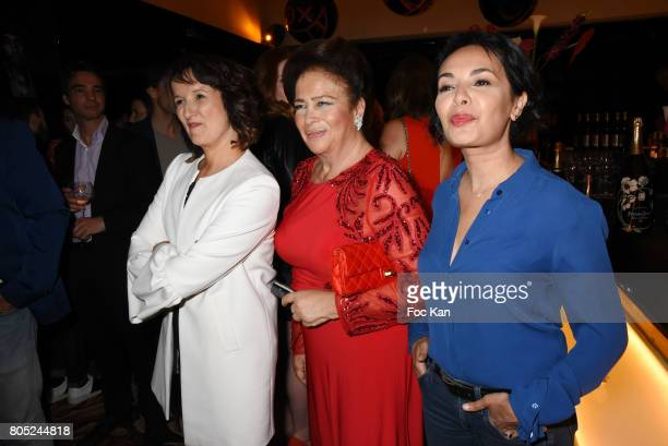Anne Roumanoff Fadila D'Egypte and Saida Jawad attend the 'Red Defile' Auction Fashion Show Hosted by Ajila Association Association Against Women...