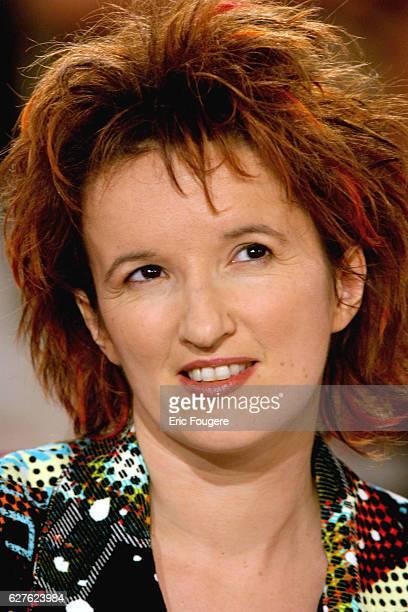 Anne Roumanoff on Michel Drucker's TV show 'Vivement Dimanche' with main guest Omar Sharif