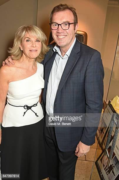 Anne Sebba and Andrew Morton attend the launch of 'Les Parisiennes' by Anne Sebba at the Roland Mouret flagship store on July 14 2016 in London...