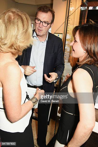Anne Sebba Andrew Morton and guest attend the launch of 'Les Parisiennes' by Anne Sebba at the Roland Mouret flagship store on July 14 2016 in London...