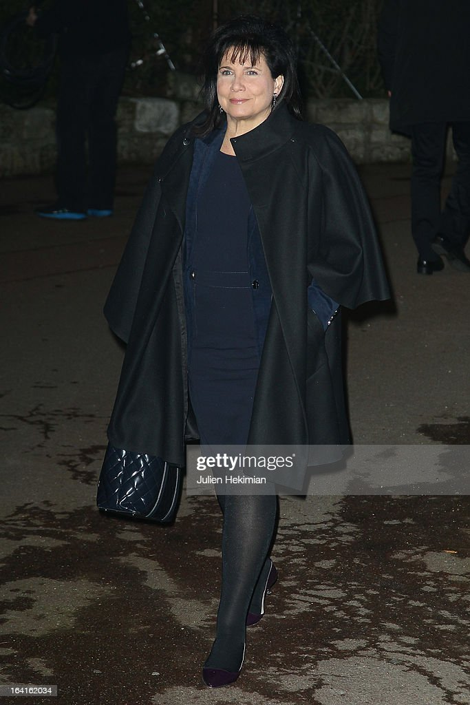 Anne Sinclair attends the 28th Dinner of 'Conseil Rrepresentatif Des Institutions Juives De France at Pavillon d'Armenonville on March 20, 2013 in Paris, France.