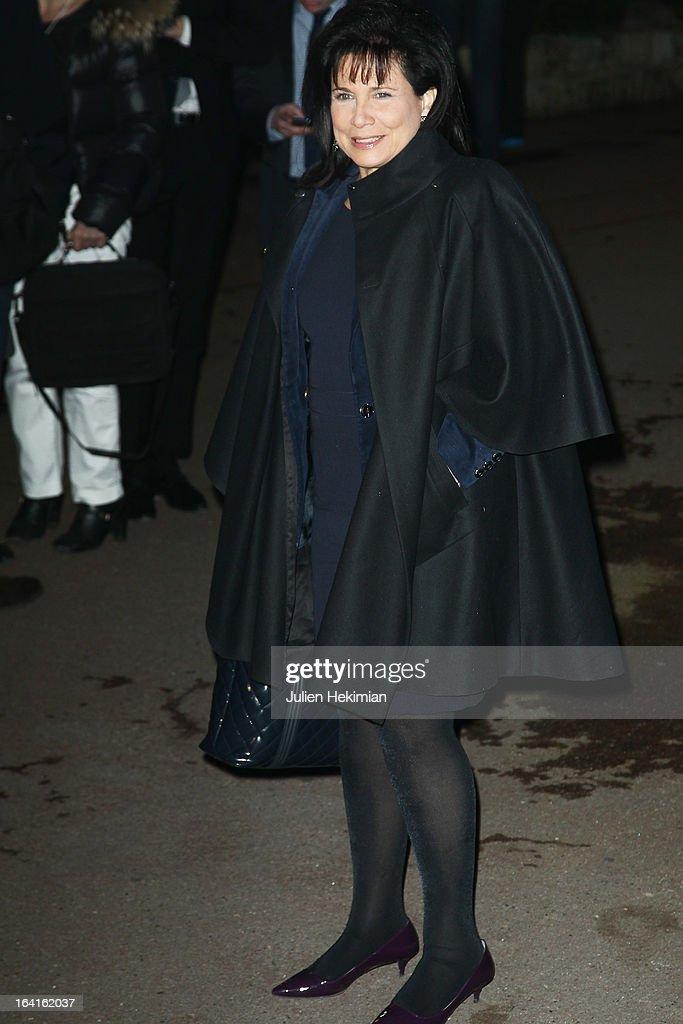 Anne Sinclair attends the 28th Dinner of 'Conseil Rrepresentatif Des Institutions Juives De France at Pavillon d'Armenonville on March 20, 2013 in Paris, France.