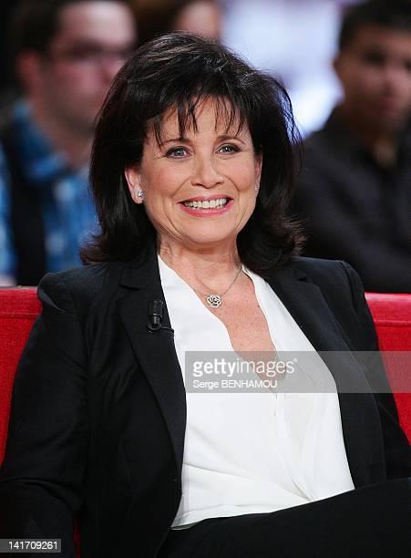 Anne Sinclair attends Vivement Dimanche TV show on March 21 2012 in Paris France