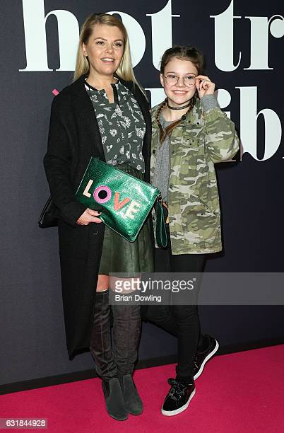 Anne Sophie Briest and daughter Faye Montana attends the Maybelline Hot Trendsxhbition 2017 show during the MercedesBenz Fashion Week Berlin A/W 2017...