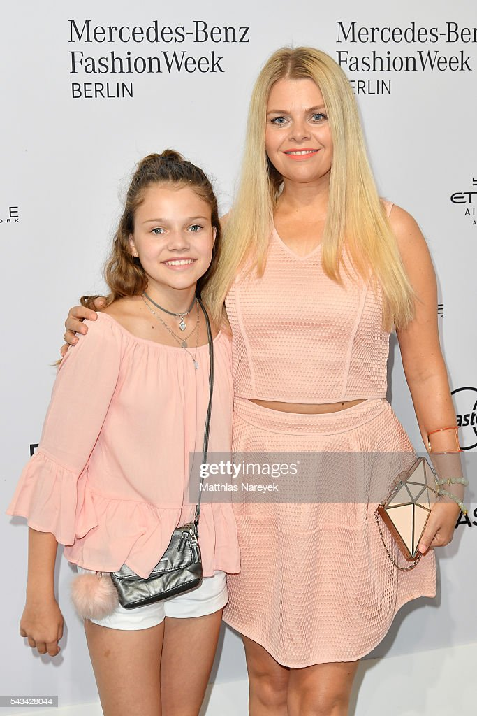 Anne Sophie Briest and her daughter Faye Montana attend the Riani show during the Mercedes-Benz Fashion Week Berlin Spring/Summer 2017 at Erika Hess Eisstadion on June 28, 2016 in Berlin, Germany.