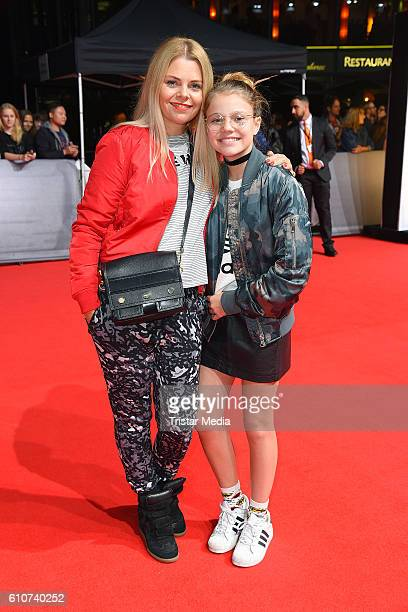 Anne Sophie Briest and her daughter Faye Montana attend the 'Unsere Zeit ist jetzt' World Premiere at CineStar on September 27 2016 in Berlin Germany