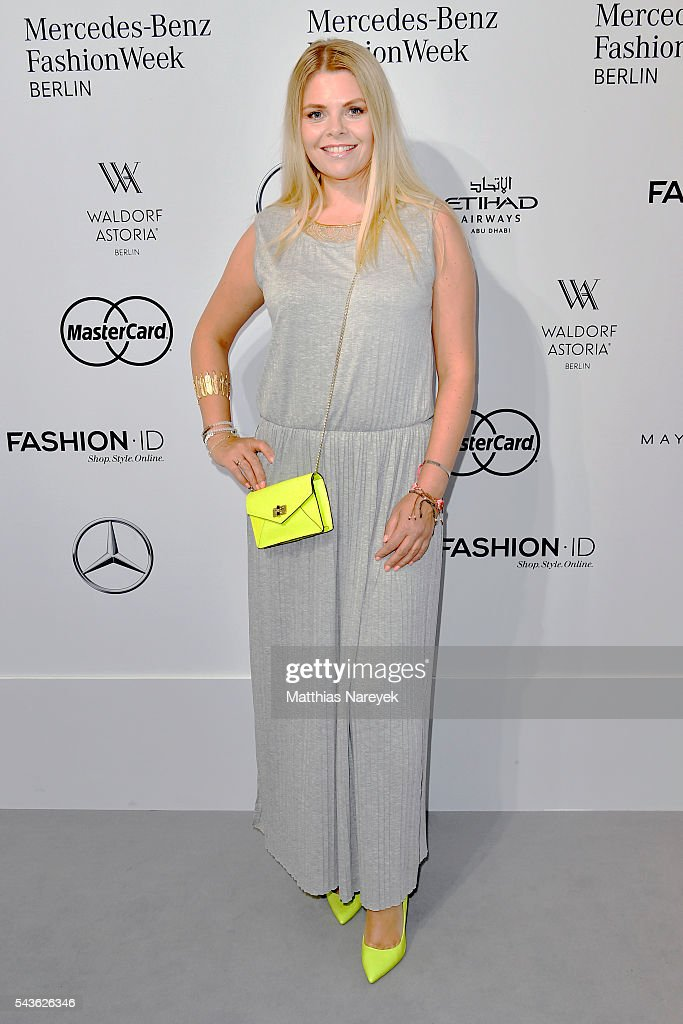 Anne Sophie Briest attends the Guido Maria Kretschmer show during the Mercedes-Benz Fashion Week Berlin Spring/Summer 2017 at Erika Hess Eisstadion on June 29, 2016 in Berlin, Germany.