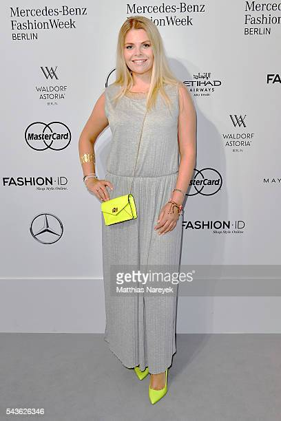 Anne Sophie Briest attends the Guido Maria Kretschmer show during the MercedesBenz Fashion Week Berlin Spring/Summer 2017 at Erika Hess Eisstadion on...