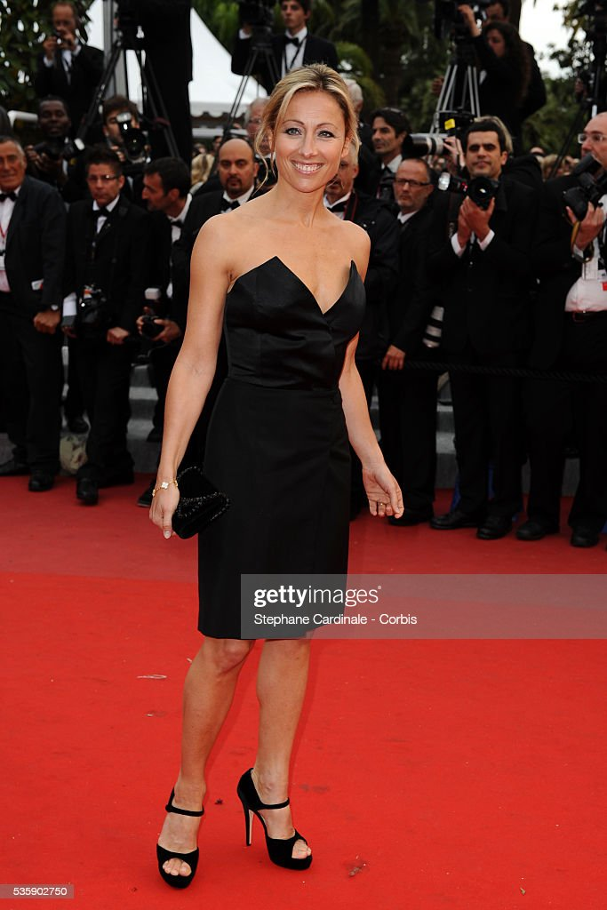 Anne Sophie Lapix at the Premiere for 'You will meet a tall dark stranger' during the 63rd Cannes International Film Festival.