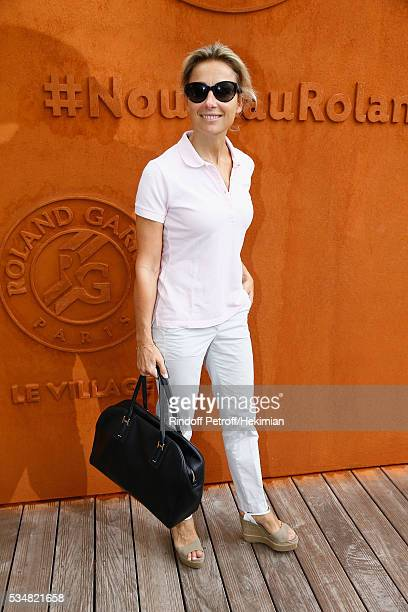 Anne Sophie Lapix attends The French Tennis Open Day Seven at Roland Garros on May 28 2016 in Paris France