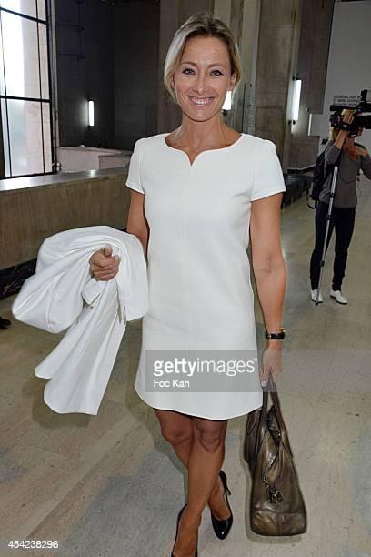 Anne Sophie Lapix attends the 'Rentree de France Televisions' at Palais De Tokyo on August 26 2014 in Paris France