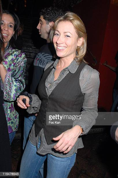 Anne Sophie Lapix during Jamel Debbouze After Show Party at Mandala Ray in Paris France