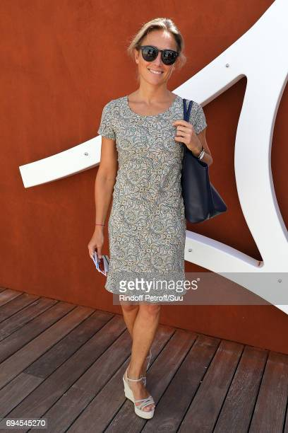 Anne Sophie Lapix is spotted at Roland Garros on June 10 2017 in Paris France