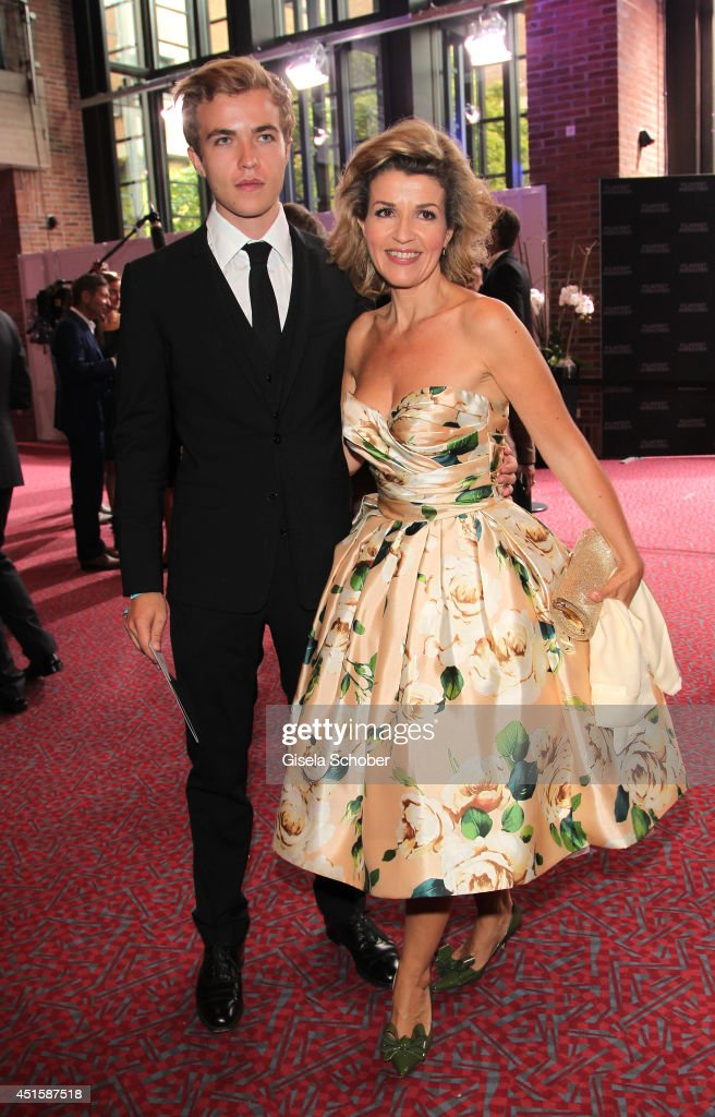 Anne Sophie Mutter and her son Richard Wunderlich attend the 'Gala Abend mit Arthur Cohn' - as part of Filmfest Muenchen 2014 at Gasteig on July 1, 2014 in Munich, Germany