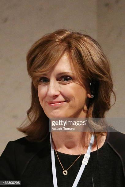 Anne Sweeney CoChair of Disney Media Networks and President of DisneyABC Television Group speaks during The World Assembly for Women in Tokyo WAW...