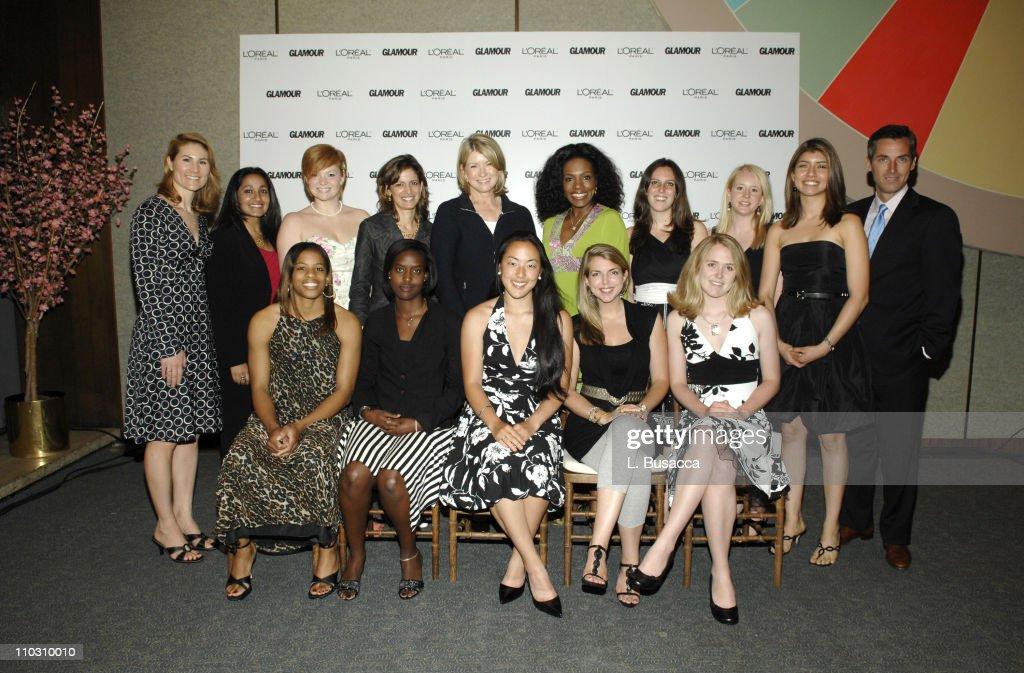 Anne Talley Senior Vice President Marking of L'Oreal Paris Megan Pasricha Ashley RhodesCourter Glamour EditorinChief Cindi Leive Martha Stewart...