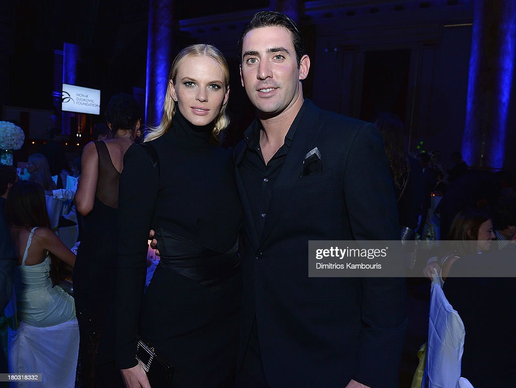 Anne V and Matt Harvey attend The Novak Djokovic Foundation New York Dinner at Capitale on September 10, 2013 in New York City.