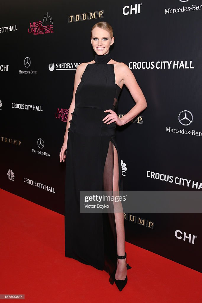 Anne V attends the red carpet at Miss Universe Pageant Competition 2013 on November 9, 2013 in Moscow, Russia.