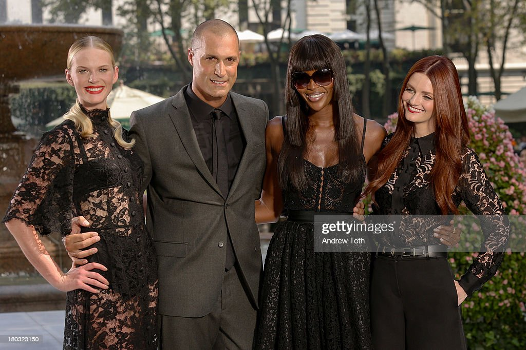 Anne V, <a gi-track='captionPersonalityLinkClicked' href=/galleries/search?phrase=Nigel+Barker&family=editorial&specificpeople=691819 ng-click='$event.stopPropagation()'>Nigel Barker</a>, <a gi-track='captionPersonalityLinkClicked' href=/galleries/search?phrase=Naomi+Campbell&family=editorial&specificpeople=171722 ng-click='$event.stopPropagation()'>Naomi Campbell</a> and <a gi-track='captionPersonalityLinkClicked' href=/galleries/search?phrase=Lydia+Hearst&family=editorial&specificpeople=221723 ng-click='$event.stopPropagation()'>Lydia Hearst</a> take part in the 'The Face' Season 2 Pop Up Fashion Show at Bryant Park on September 11, 2013 in New York City.