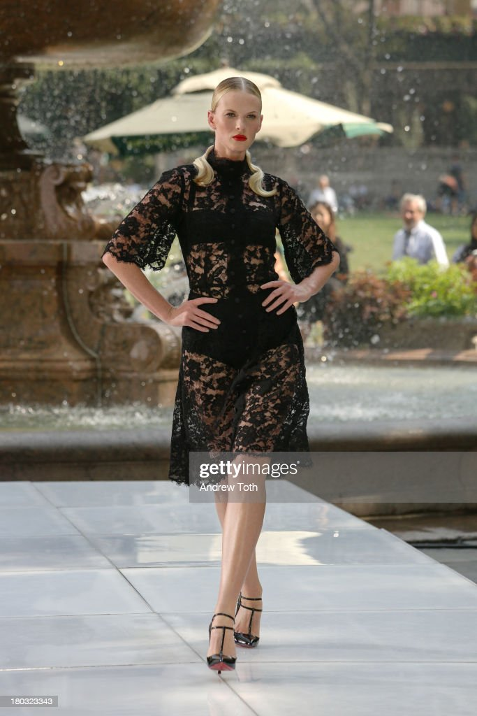 Anne V takes part in the 'The Face' Season 2 Pop Up Fashion Show at Bryant Park on September 11, 2013 in New York City.