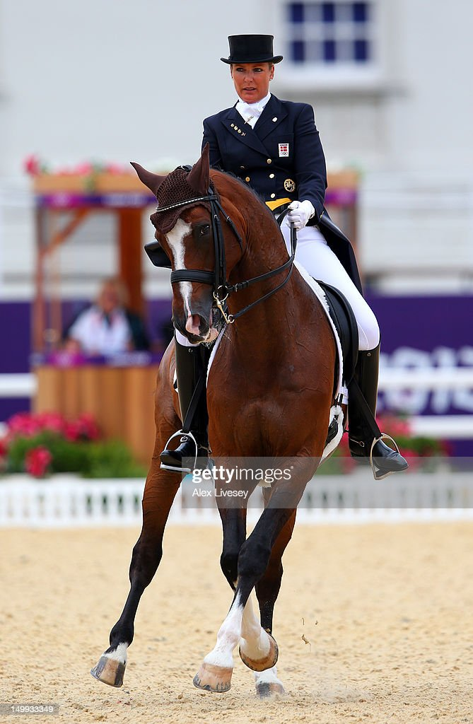 Anne Van Olst of Denmark riding Clearwater competes in the Team Dressage Grand Prix Special on Day 11 of the London 2012 Olympic Games at Greenwich Park on August 7, 2012 in London, England.