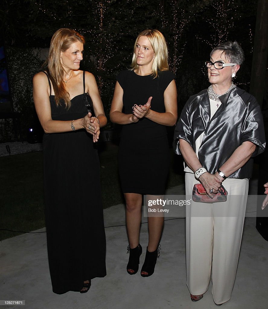 Anne Vincent, Jessica Giesen and Linda J. Messner, Child Advocate honoroee, attend the Vogue And Versace Celebrate The 2011 Fall/Winter Collection At The Home Of Lucinda Loya on September 15, 2011 in Houston, Texas.