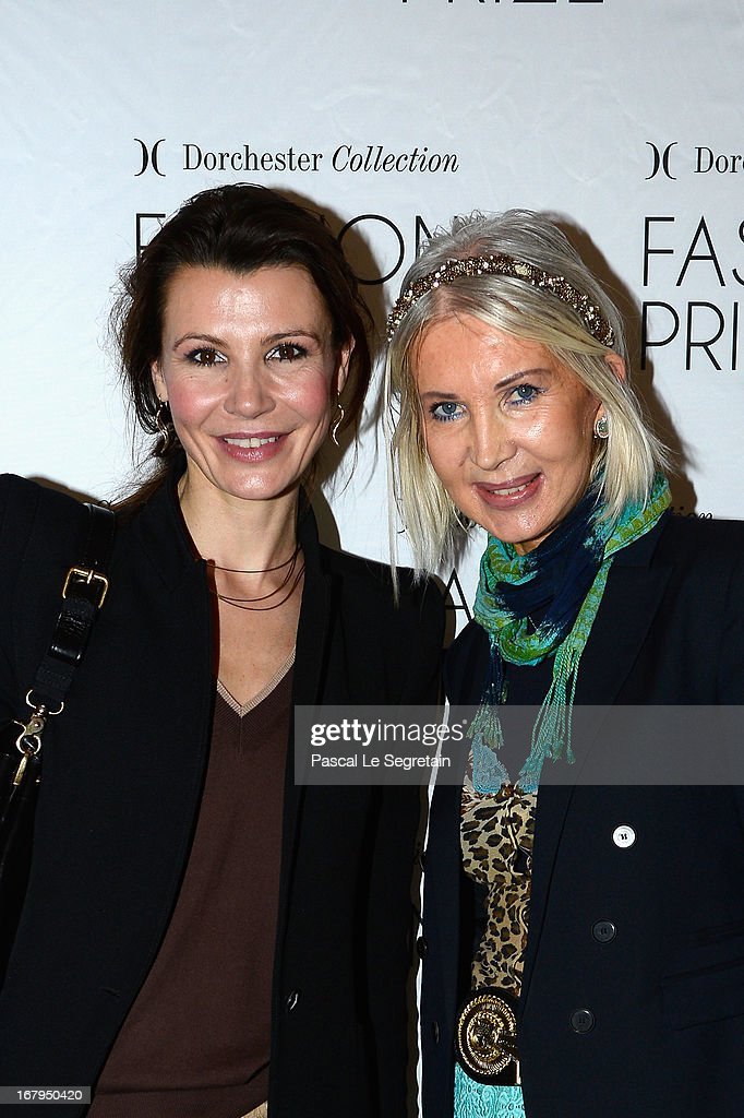 Anne Vogt-Bordure (L) and Anne de Champigneul (R) attend the 2013 Launch of the Dorchester Collection Fashion Prize 2013 at Hotel Plaza Athenee on May 3, 2013 in Paris, France.