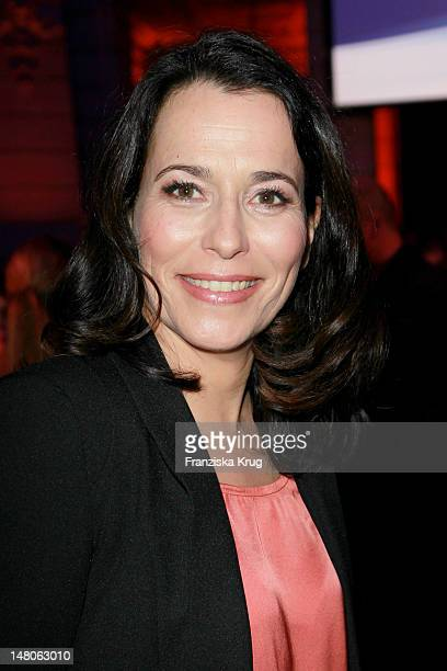 Anne Will attends 'ARD Degeto Blue Hour'Party in the Museum of communication in Berlin on February 11 2012 in Berlin Germany